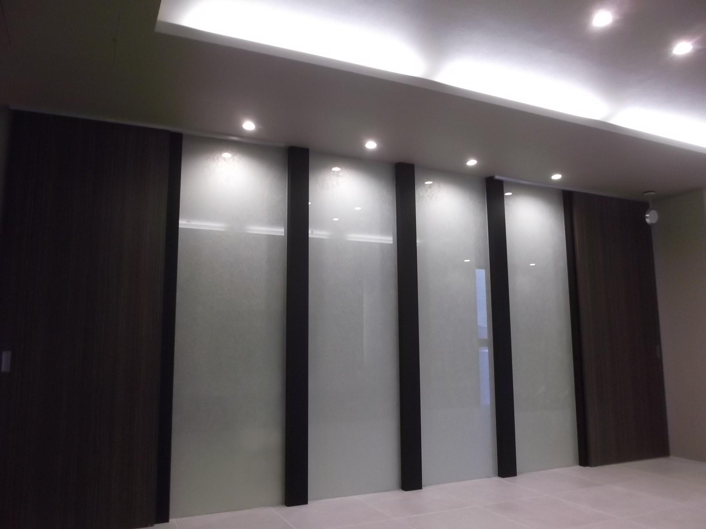 和紙とガラスの間仕切壁
